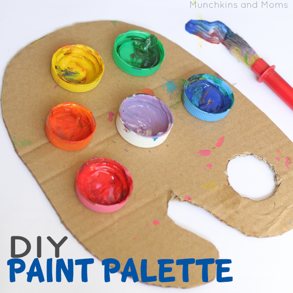 Homemade Paint Palette For Your Kids To Paint With Helpmegrowutah Org Diy Painting Homemade Paint Cardboard Painting