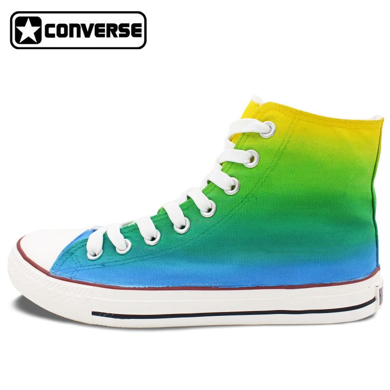 Gradient Color Yellow Green Blue Converse All Star Men Women Shoes Custom  Original Design Hand Painted Shoes Boys Girls Sneakers  Affiliate 9f6b6f05c54b