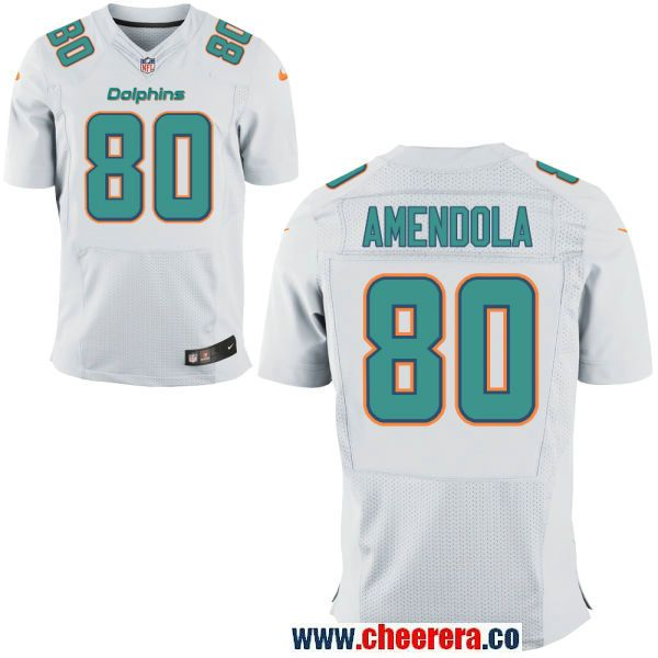 mens miami dolphins 80 danny amendola white road stitched nfl nike elite jersey