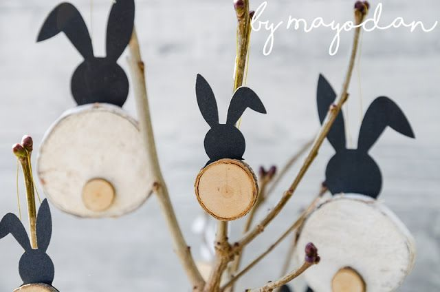 Photo of DIY bunny made of branches