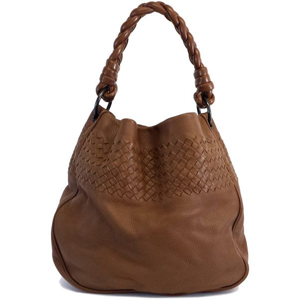 87f5fbe58d Pre-owned Bottega Veneta Brown Leather Intrecciato Bag (7 250 SEK) ❤ liked  on Polyvore featuring bags