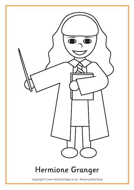 Hermione Granger Colouring Page 2 Harry Potter Coloring Pages