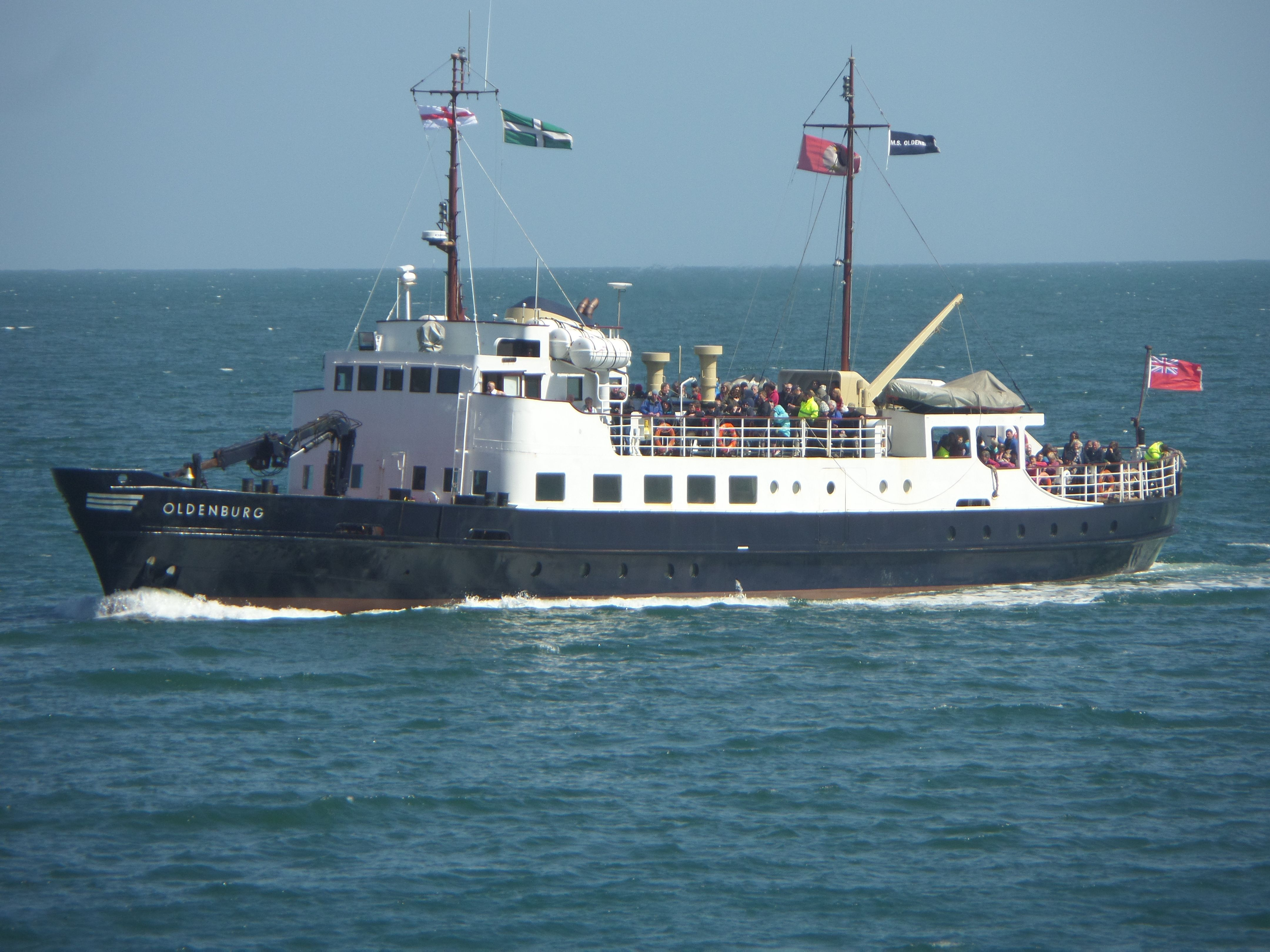The MS Oldenburg ferries people to Lundy for the Golden Weekend.