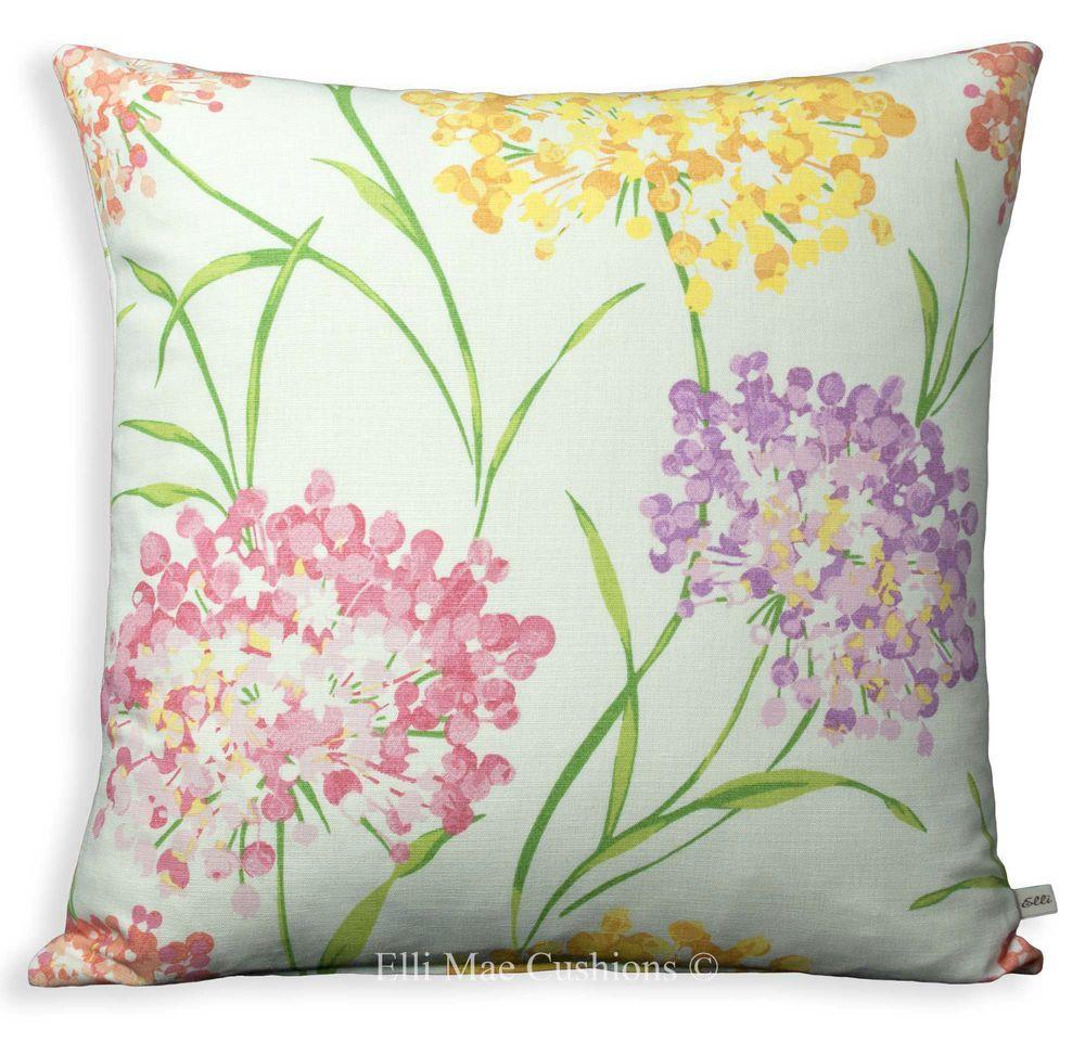 laura ashley giselle geranium floral designer fabric sofa cushion pillow cover