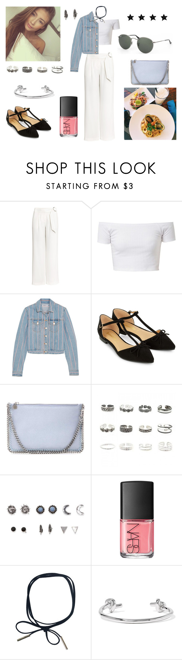 """30/09/16"" by milena-serranista ❤ liked on Polyvore featuring H&M, T By Alexander Wang, Accessorize, STELLA McCARTNEY, Retrò, With Love From CA, NARS Cosmetics, Jennifer Fisher and Ray-Ban"