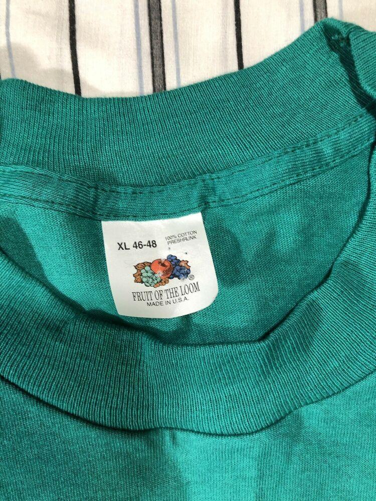 Vintage 70s 80s Fruit of the Loom Pocket T Shirt Blank