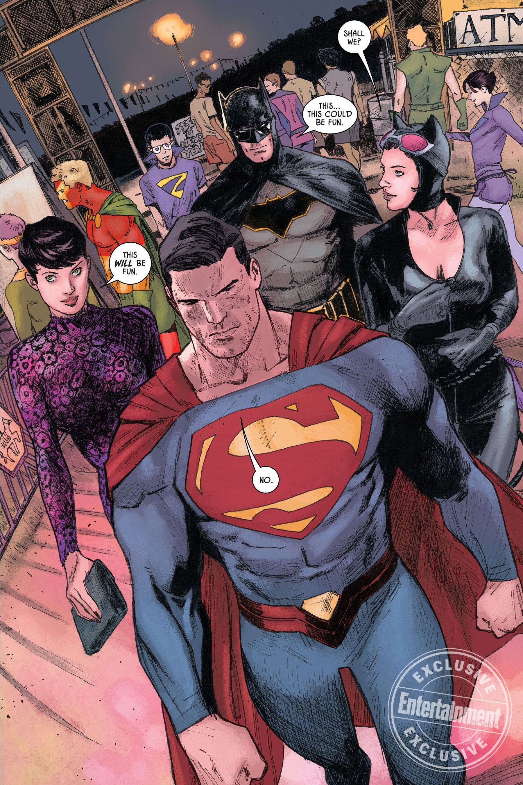 Batman and Superman go on a double date in exclusive 'Batman preview -  Batman and Superman go on a