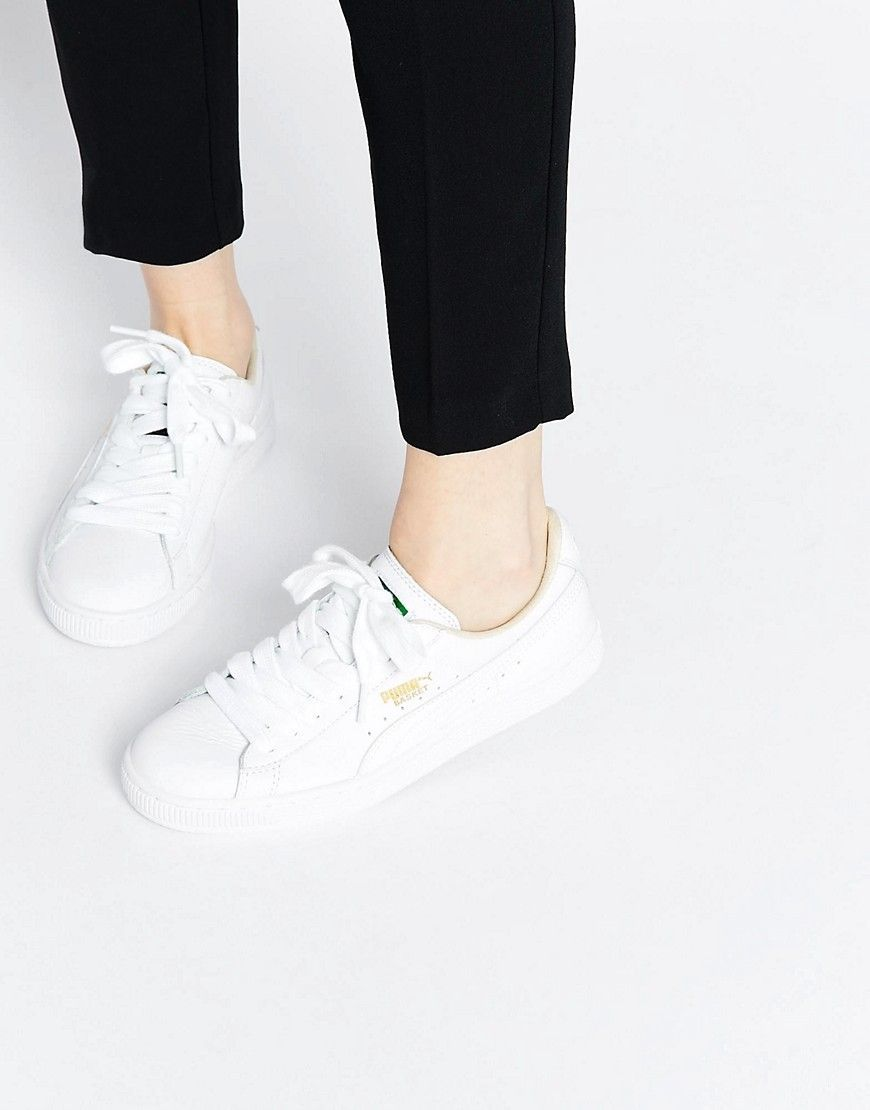 Women Shoes in 2019 | Sneakers | Puma basket classic, White sneakers ...