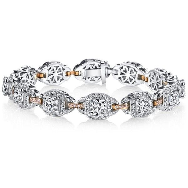 Harry Kotlar Kotlar Cushion diamonds & Pink diamonds Pave Link Bracelet