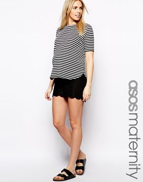 43c6dfb67fc ASOS+Maternity+Linen+Shorts+With+Scallop