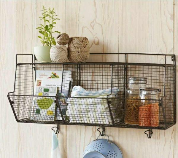 wandregale aus draht - mit dekoration | For the Home | Pinterest ...