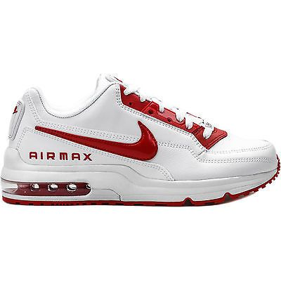 919e012fe4f46 Nike Air Max Ltd 3 Mens 687977-160 White Red Athletic Running Shoes ...