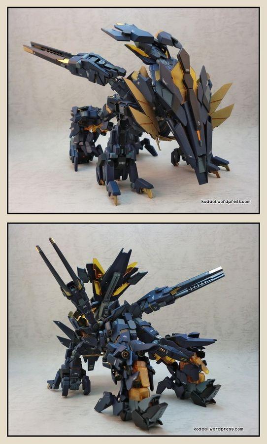 Custom Build Mg 1 100 Rx 00 Unicorn Gundam 02p Perfect Banshee