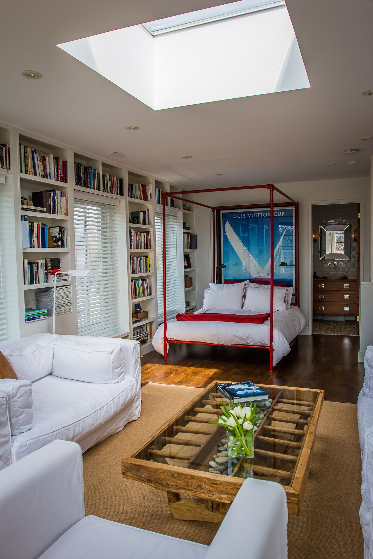 Love The Natural Light And Library Feel Of This Bedroom