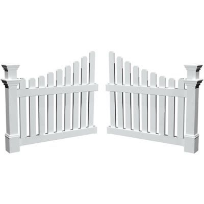 Find Nbsp New England Arbors Cottage Picket Wings Nbsp In The Nbsp Gates Gate Openers Category At Tracto New England Arbors Garden Fence Panels Vinyl Pergola