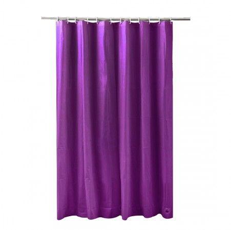 Rideau de douche peva aubergine rideau baignoire pinterest rideaux de douche salle de for Rideau aubergine