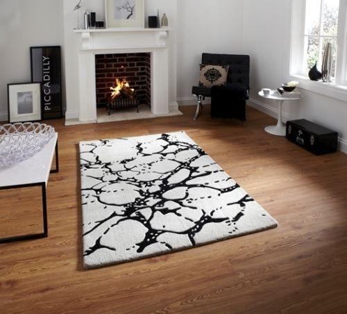 Love This Rug Soft Ivory Black Anti Static Floor Mat Cheap Carved High Quality Luxury Wool Rug Modern Rug Design Modern Rugs Uk Modern Rugs