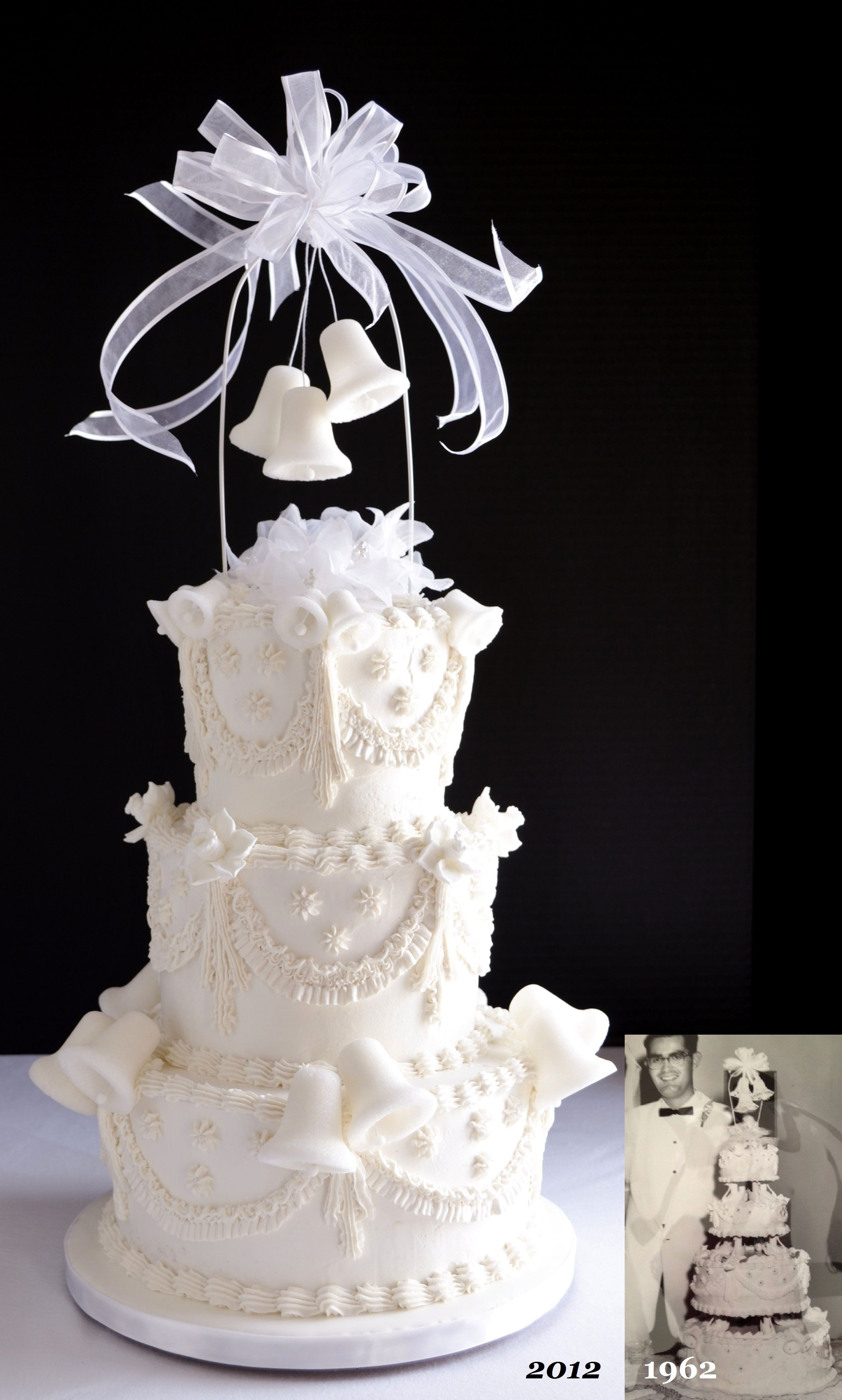 Retro 50th wedding anniversary cake from the last century bells retro wedding anniversary cake from the last century bells held their place as the iconic wedding symbol for a few decades biocorpaavc Image collections