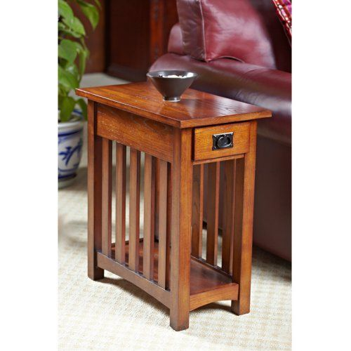 Leick Solid Ash Mission Chairside End Table Tables At Hayneedle