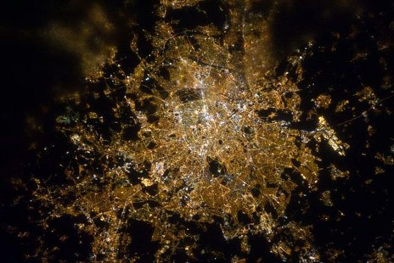 Lights of Paris City of Light Seen from Space by EclecticForest