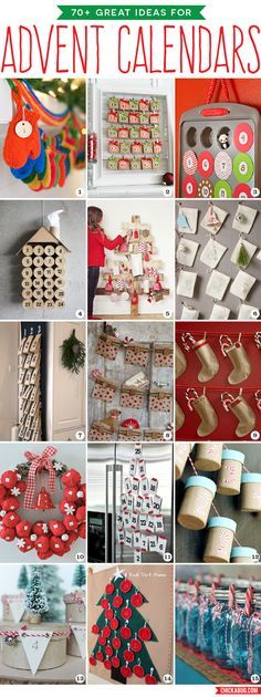 70  great ideas for DIY advent calendars