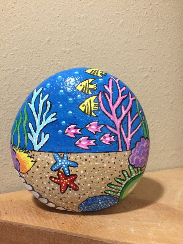 Aquarium Rock von Cat - #Aquarium #Cat #Rock #von #potterypaintingideas