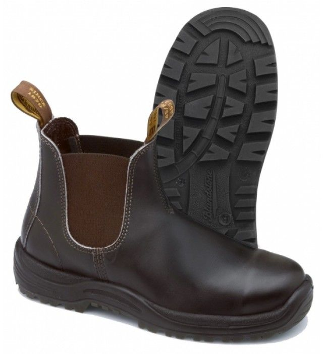a3abe674 Blundstone 192 støvler med sikkerhed S2, Brun | Sikkerhedssko og ...
