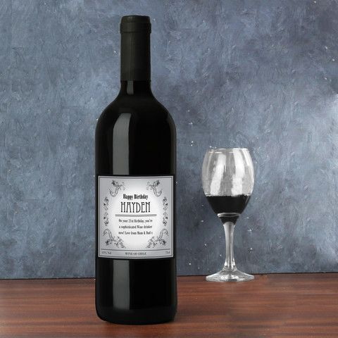 Wine  - Personalised Vine Red Wine Gift - http://www.vivabop.co.uk/products/personalised-vine-red-wine-gift