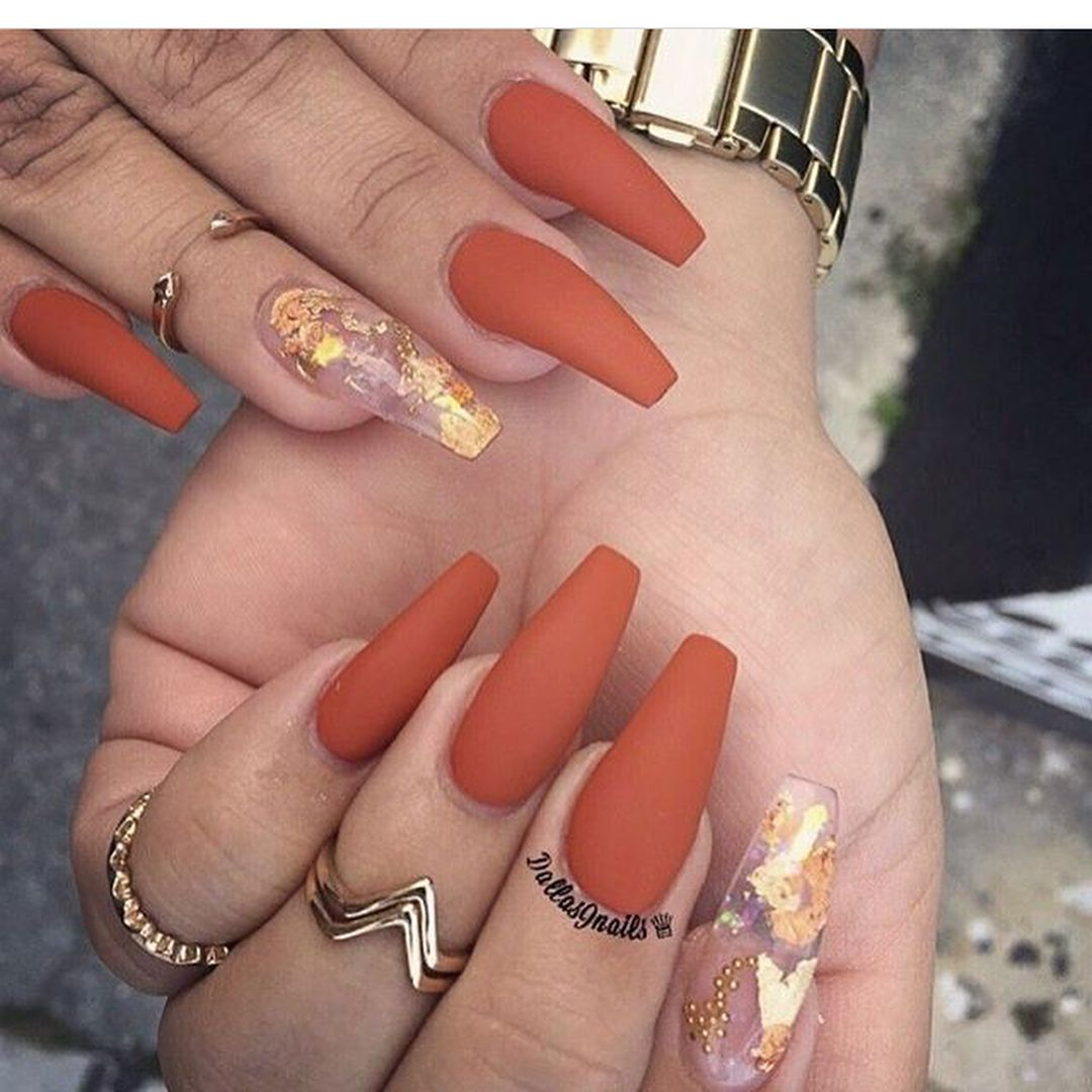 October | Fall acrylic nails, October nails, Cute acrylic ...