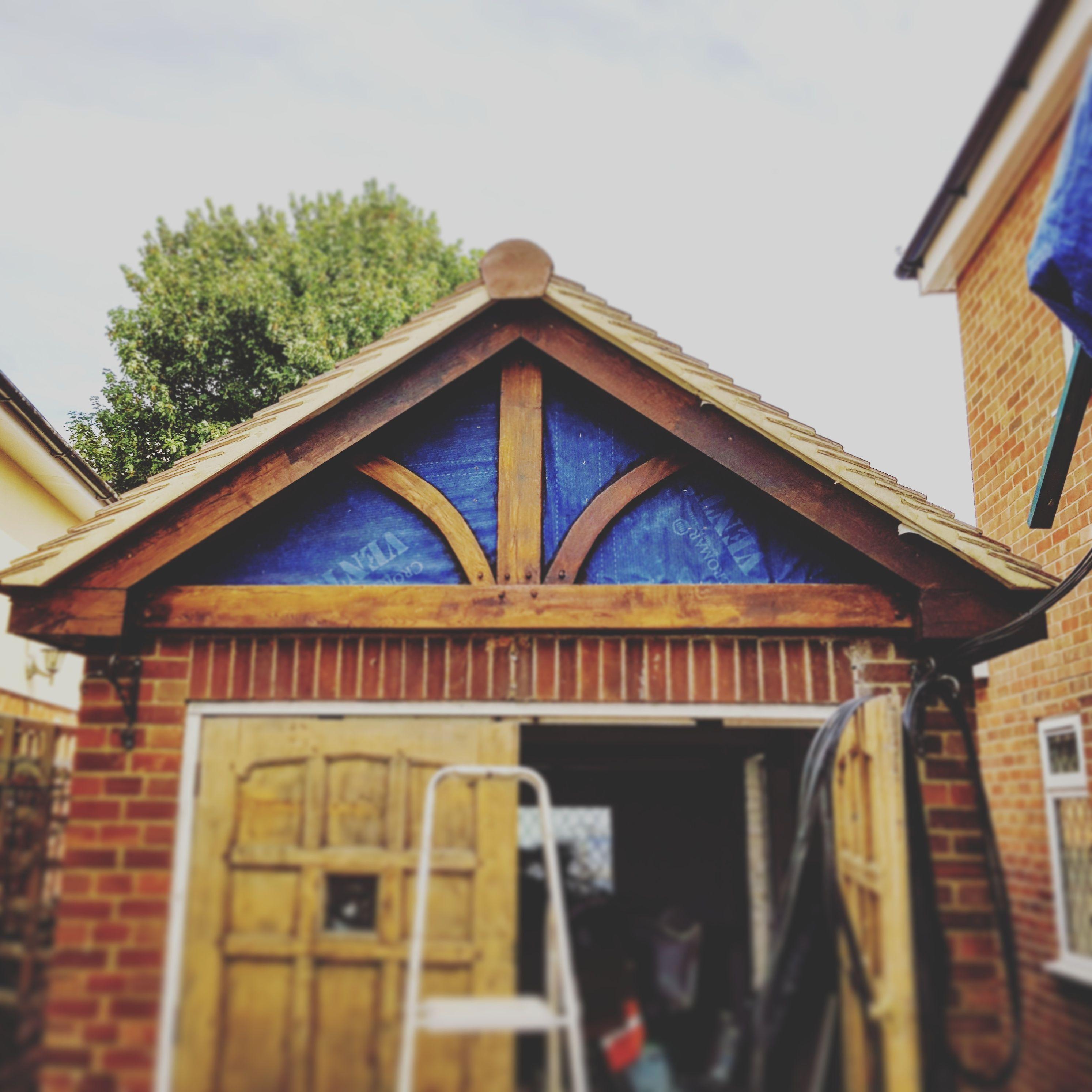 Mock tudor oak cladding on this garage front #oakcladding #tudor ...