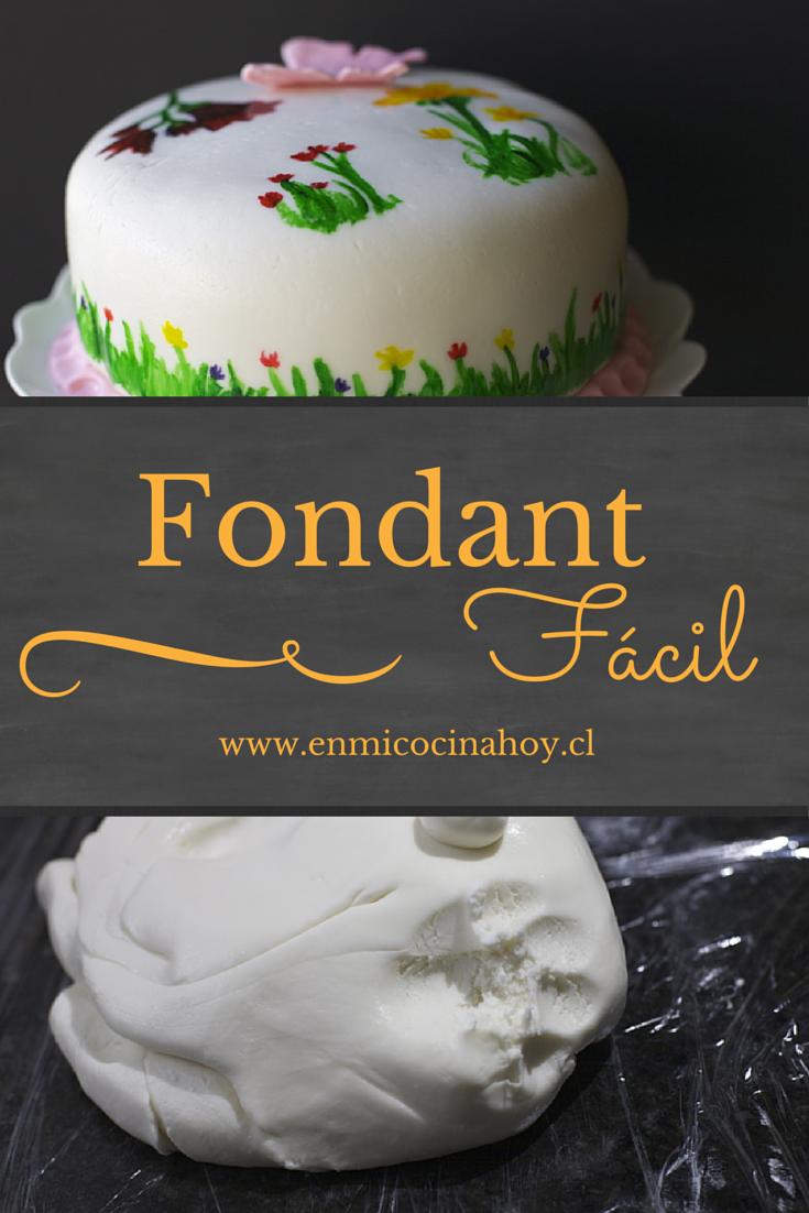 Fondant Receta Fácil Con Marshmallows O Sustancias En Mi Cocina Hoy Receta De Fondant Fondant Receta Hacer Fondant