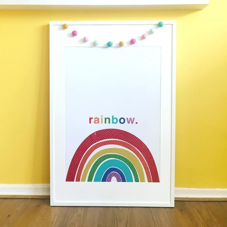 Rainbow Poster Gift Artwork Nursery