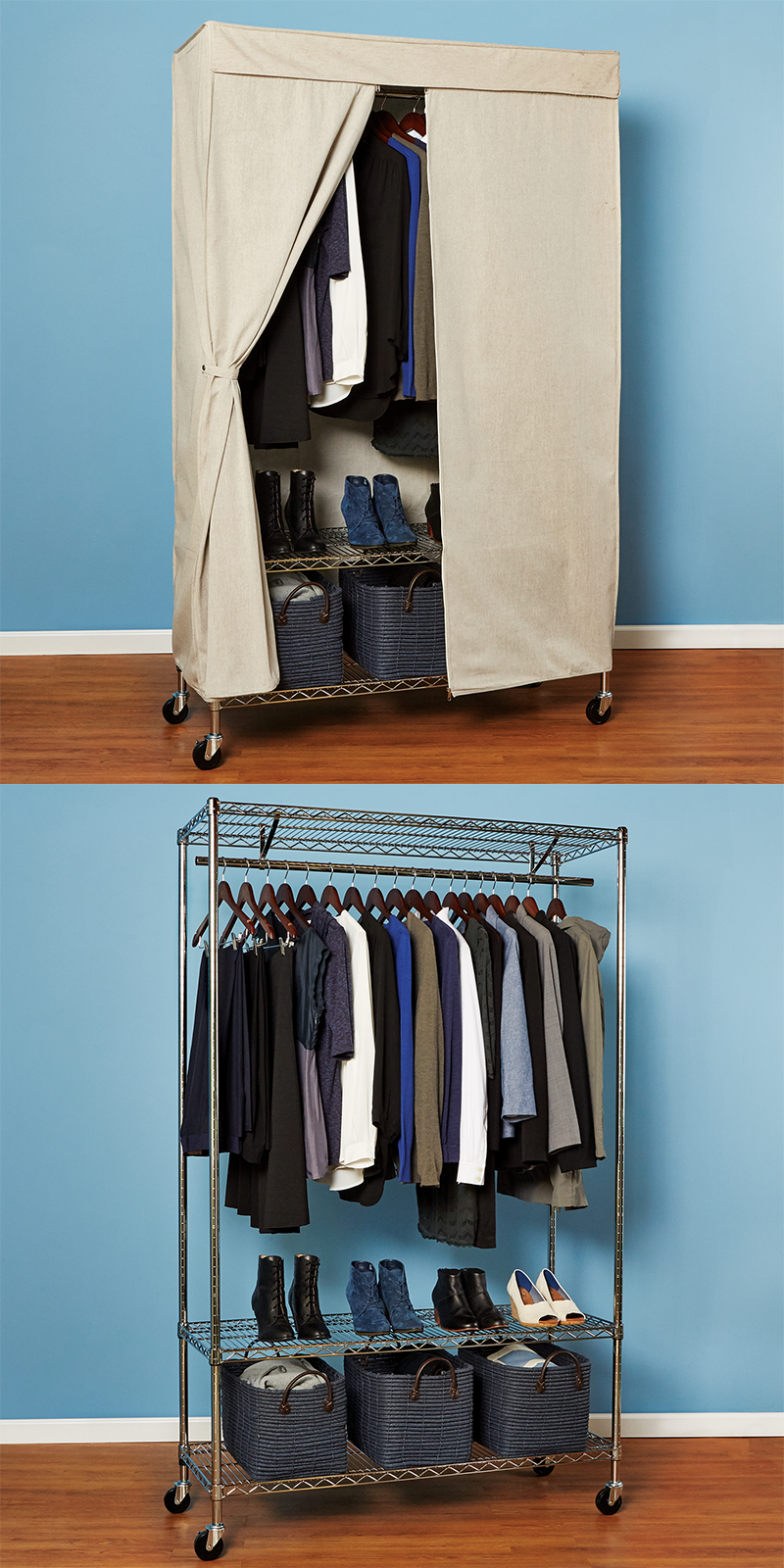 Lacking Closet Space? Create Your Dream Rolling Wardrobe And Give Your  Clothes A Home With