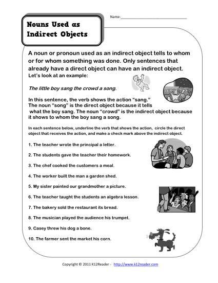 Pin On Writing Direct and indirect objects worksheets