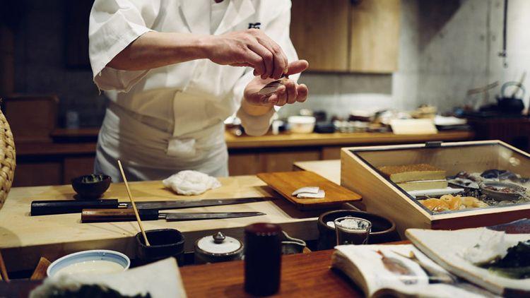 Japanische Messer Kochen Verwendung Kitchen Japanese Knives