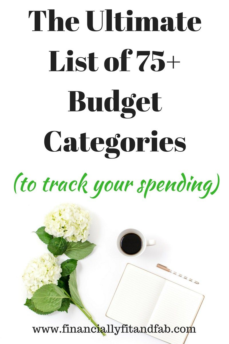 the ultimate list of 75 budget categories money management