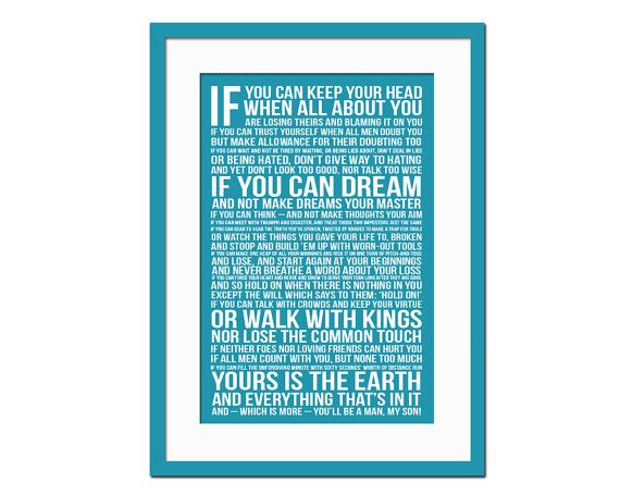 Proposal Essay Sample If By Rudyard Kipling Art Print Poetry Quote By Foliocreations  Sample Essay High School also Essay Examples High School If By Rudyard Kipling  Art Print  Poetry Quote Poster  The Kite Runner Essay Thesis