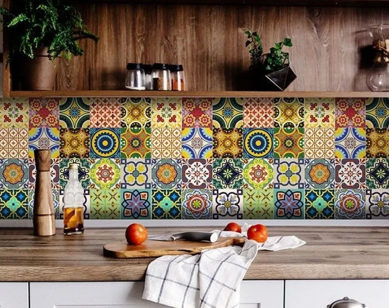 31 Unusual Bohemian Kitchen Decorations Ideas To Try In 2020 Tile Decals Kitchen Decals Bohemian Kitchen