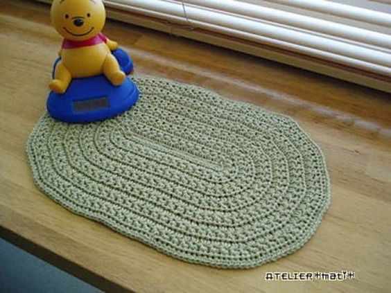 Crochet Bath Mat Patterns And Other Free Bathroom Patterns Crochet