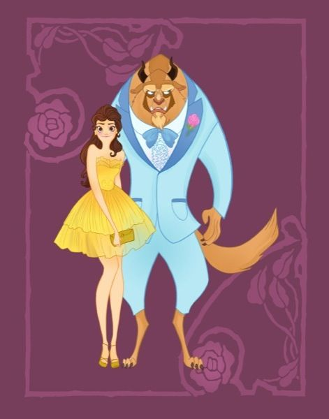 Artist Imagines Disney Characters All Dressed Up For Prom