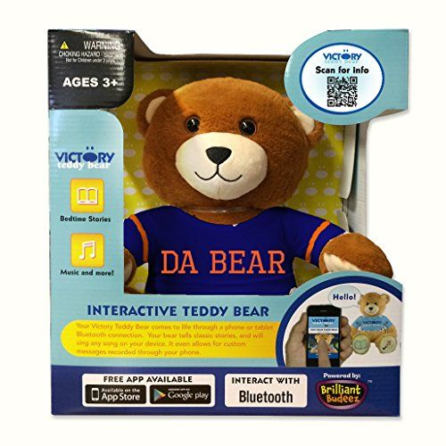 Da Bear Ultra-portable Wireless Bluetooth Teddy Bear Speaker,recordable Stuffed Animal Compatible with All Bluetooth Devices Victory Teddy Bear http://www.amazon.com/dp/B015JLPO14/ref=cm_sw_r_pi_dp_rnJuwb0BP4HH3