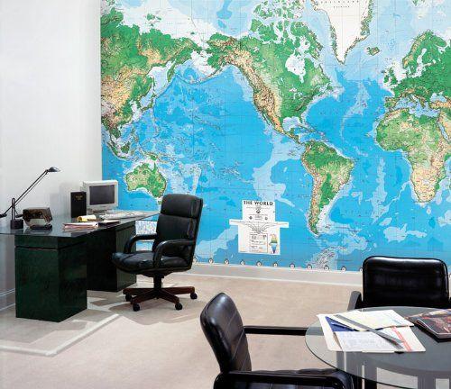 World Wall Mural | Mapa-mundi na parede inteira <3