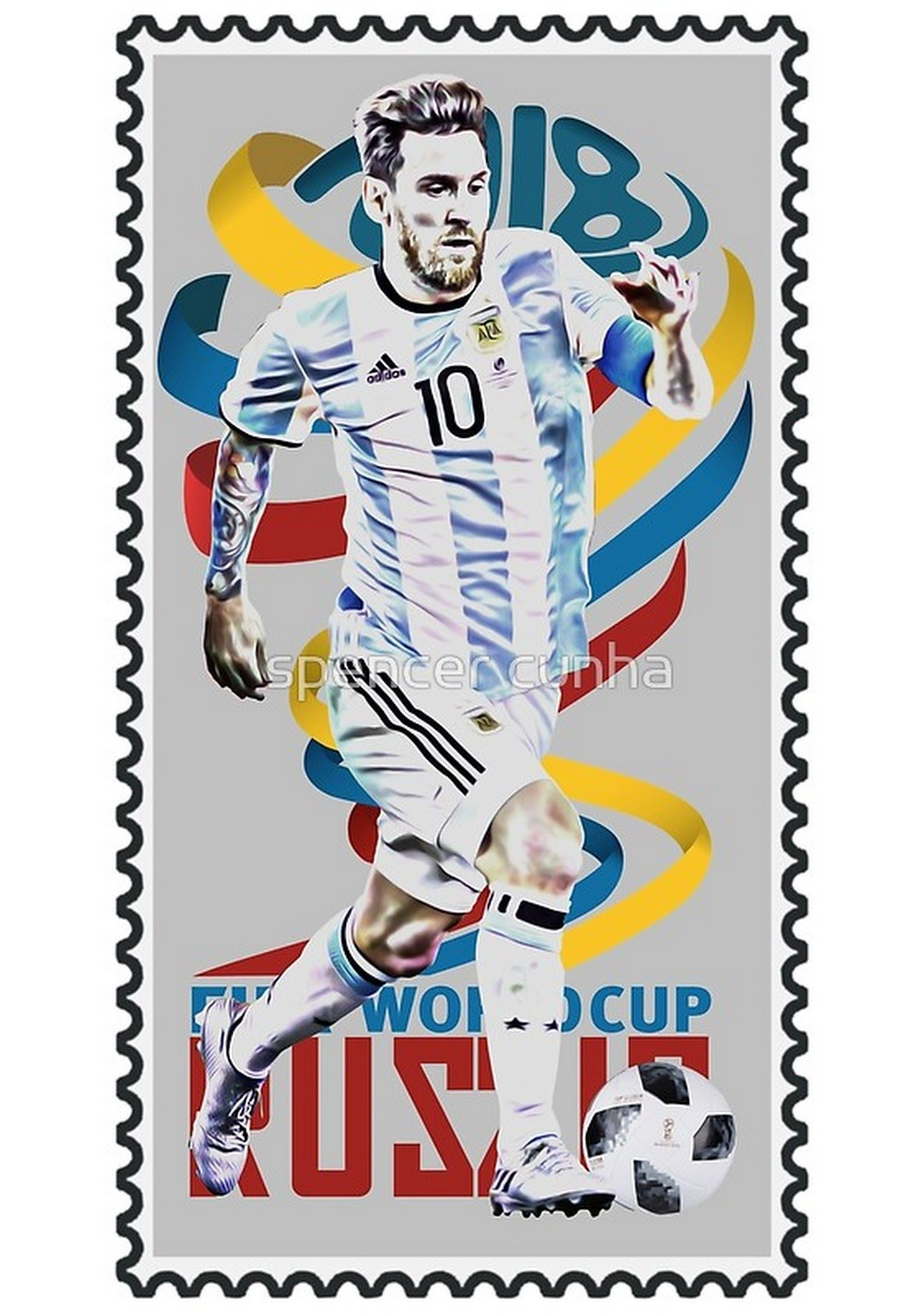 Postage stamps for the World Cup 2018 4