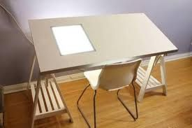 Ikea Drafting Table With Tracing Window Light Box Selling