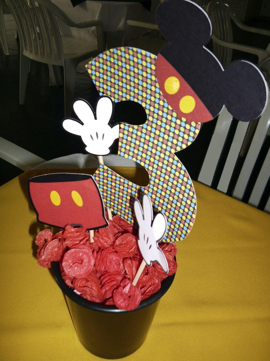 Centro de mesa para festinha Mickey ou Minnie, mas pode ...
