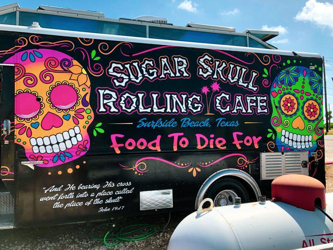 Sugar Skull Rolling Cafe In Surfside Beach A Wonderful Food Truck
