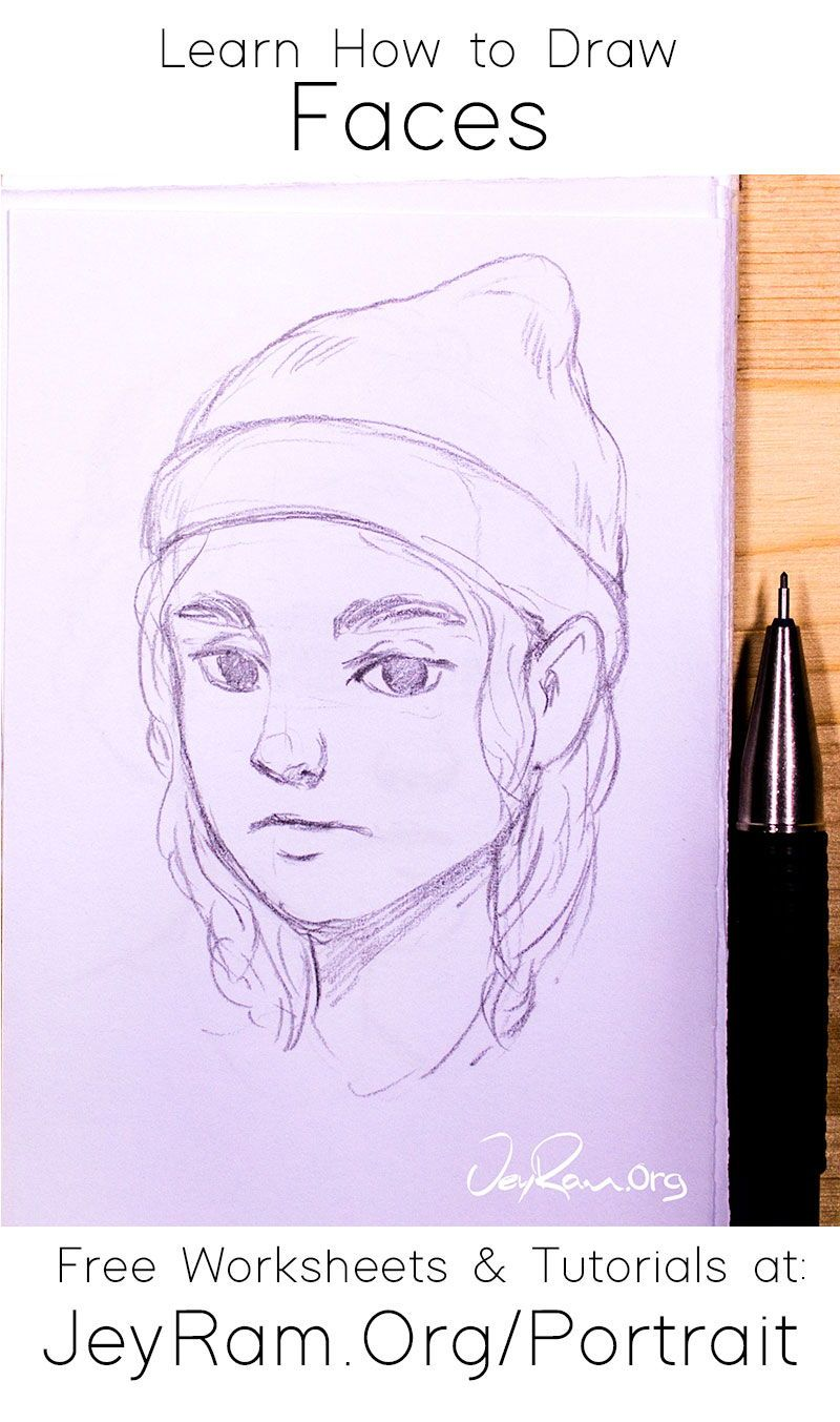 Learn how to draw simple faces with the art tutorials made