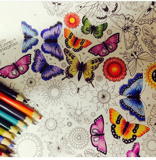- Butterfly Colors Basford Coloring Book, Secret Garden Coloring Book,  Johanna Basford Coloring Book
