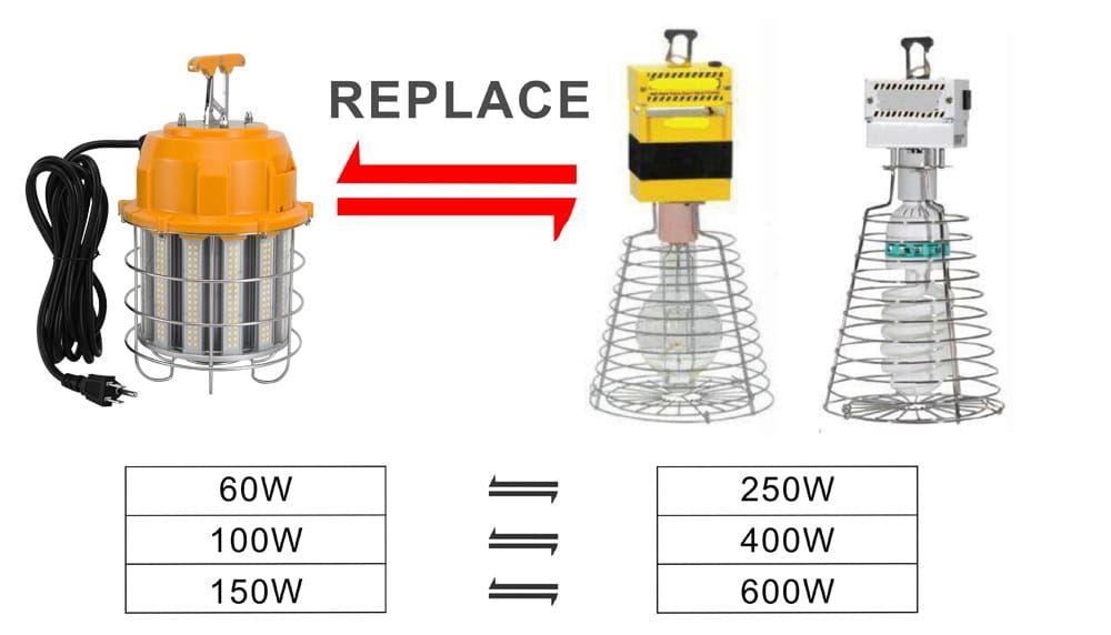 UL cUL DLC 60W LED Corn light bulb 6000K daylight 250W metal halide equivalent