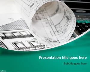Building Plans Powerpoint Template  Prezentace